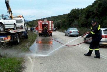 Σοβαρό τροχαίο κοντά στη Βόνιτσα