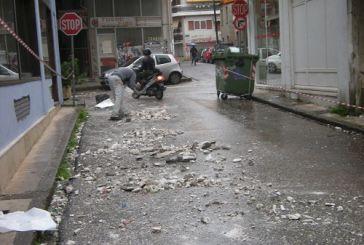 Έπεσαν σοβάδες στην οδό Γαλάνη (φωτο)