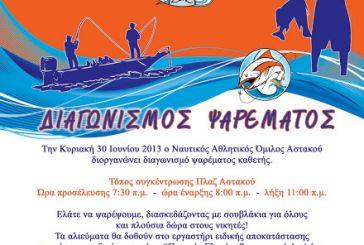 Ο ΝΑΟΑΣ διοργανώνει διαγωνισμό ψαρέματος την Κυριακή 20 Ιουνίου
