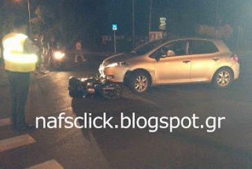 Ναύπακτος: Τροχαία ατύχημα με μηχανάκι στα φανάρια του Κονιστή