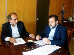 Συνάντηση του Περιφερειάρχη με τον Β. Κεγκέρογλου