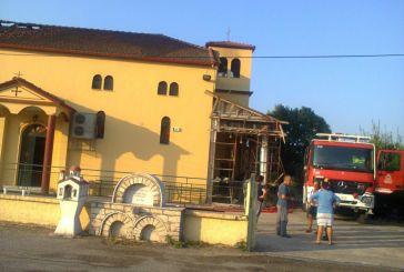 Κάηκε η εκκλησία του Αγίου Νεκταρίου στον Κάμπο Αμφιλοχίας (φωτό)