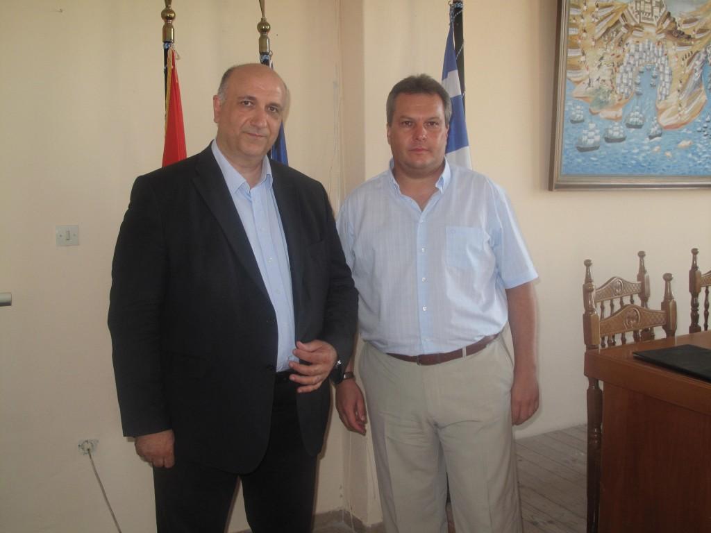 Με τον δήμαρχο Ακτίου-Βόνιτσας Νικο Σολδάτο