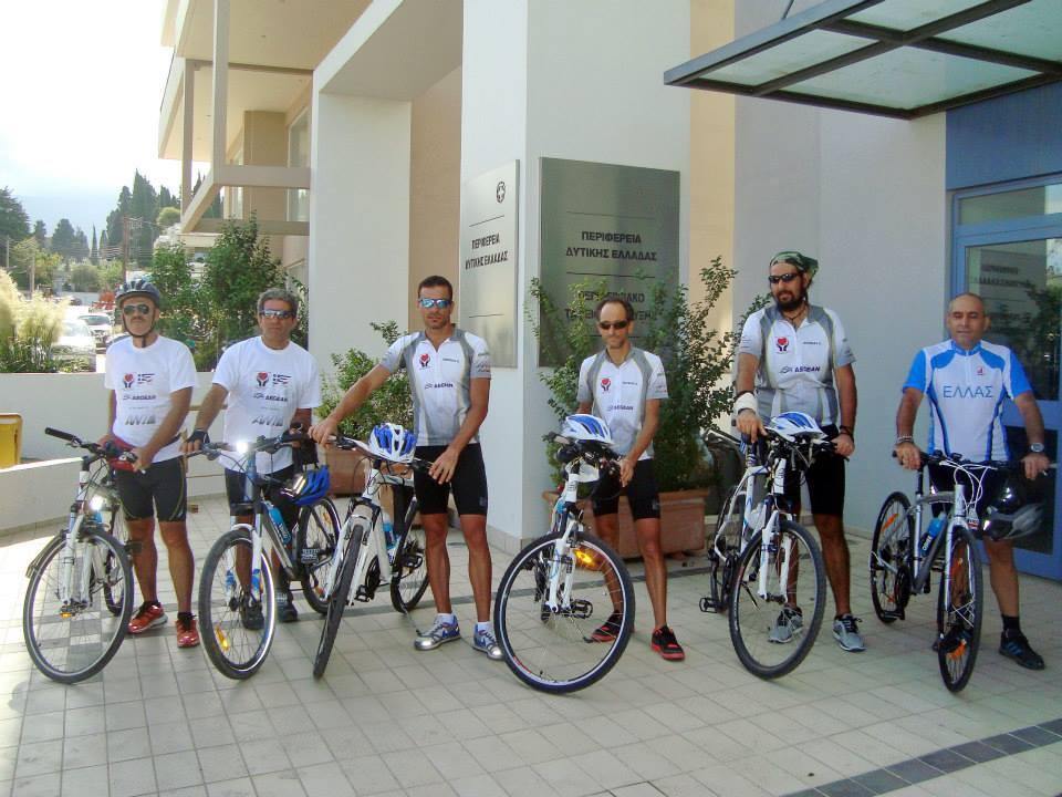 Οι ποδηλάτες της «Ποδηλασίας Αγάπης» στην Περιφέρεια Δυτικής Ελλάδας