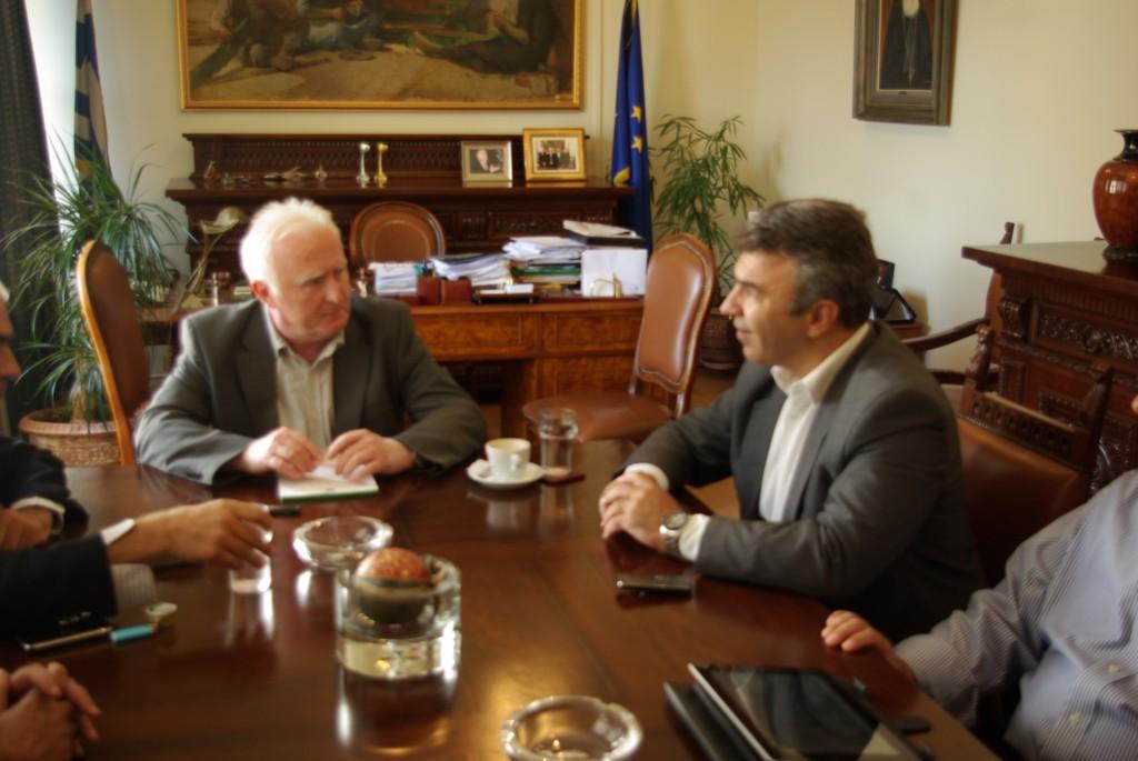 Κατά τη συνάντηση με τον δήμαρχο Αγρινίου