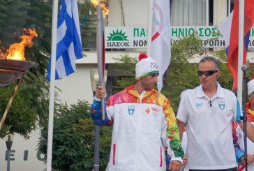 Το Αγρίνιο υποδέχθηκε την Ολυμπιακή Φλόγα (φωτό)