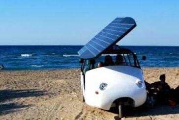 Το ελληνικό υβριδικό όχημα Sunnyclist που κινείται με ηλιακή ενέργεια (Vid)