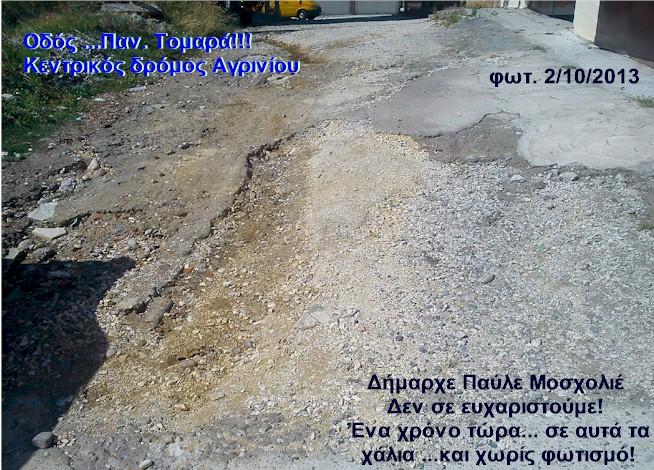Αγανάκτισαν οι κάτοικοι της οδού Παν.Τομαρά