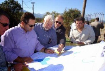O γενικός υπεύθυνος των έργων Δυτικής Ελλάδας στην υδατοδεξαμενή της Κωνωπίνας