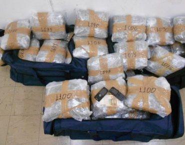 «Μπλόκο» σε 1,2 τόνους χασίς στη Ναύπακτο