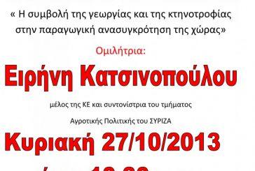 Εκδήλωση ΣΥΡΙΖΑ στην Αμφιλοχία