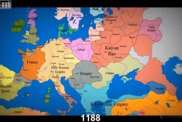 Βίντεο: Ο χάρτης της Ευρώπης τα τελευταία 1000 χρόνια σε 3,5 λεπτά