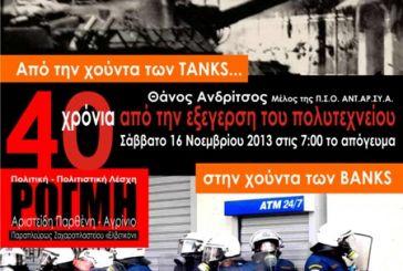 Εκδήλωση: «Από την Χούντα των ΤΑΝΚS στη χούντα των BANKS »