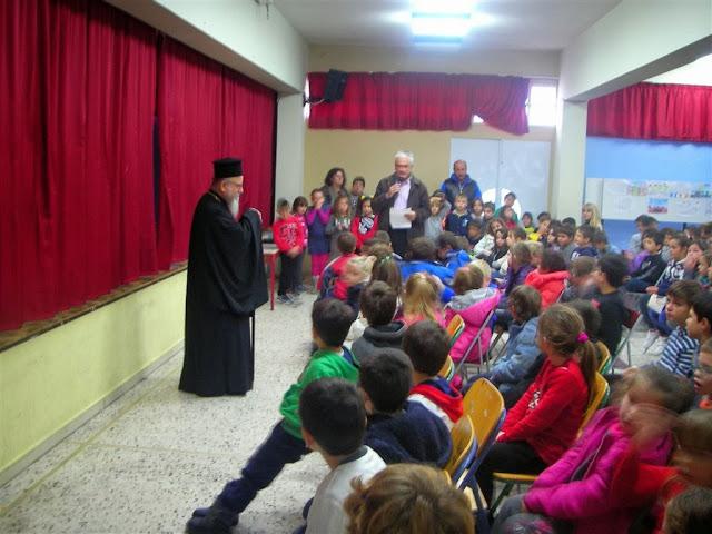 O Μητροπολίτης σε σχολεία της Βόνιτσας