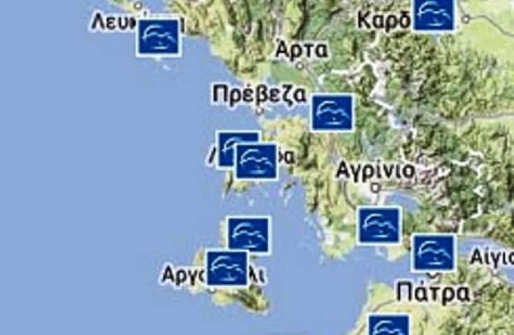 Υδατοδρόμια σε Μεσολόγγι, Λευκάδα, Πρέβεζα