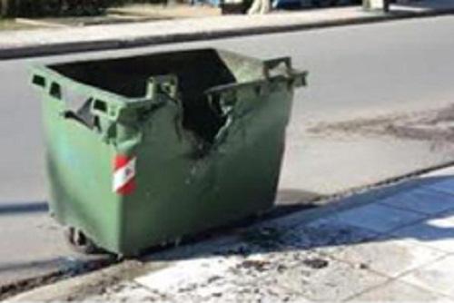Μεσολόγγι: Πρόβλημα οι καμένοι λόγω στάχτης κάδοι