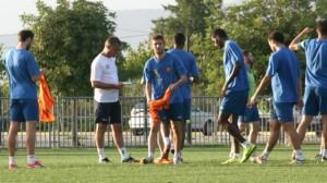 Μέρος της προπόνησης ακολούθησαν Μπόγιοβιτς και Κουτρομάνος
