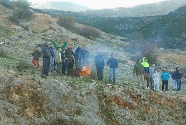 """Ξηρόμερο: Πήραν φωτιά οι…""""εξέδρες"""""""