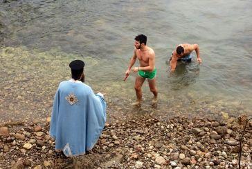 O αγιασμός των υδάτων στη Λίμνη Στράτου (φωτό-video)