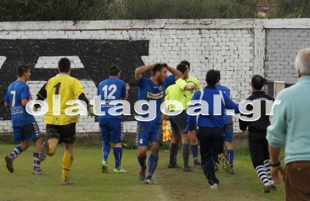 Ισόπαλοι 1-1 ήρθαν στο γήπεδο Καινουρίου η τοπική Δόξα με τον Απόλλωνα Δοκιμίου με τους φιλοξενούμενους να διαμαρτύρονται για γκολ που πέτυχαν στις καθυστερήσεις του αγώνα και ακυρώθηκε ως επιθετικό φάουλ.( οlatagoal.gr)