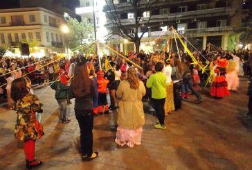 Παραδοσιακό γαϊτανάκι και χορός(φωτο)