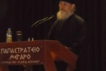 Ομιλία του μοναχού Λουκά Φιλοθεΐτου στη Σχολή Γονέων στο Αγρίνιο