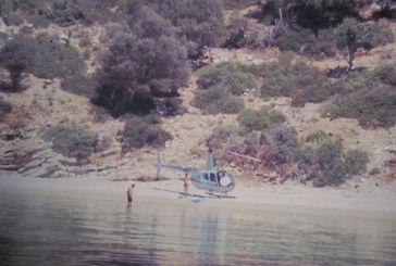 1985: Όταν ιδιωτικό ελικόπτερο προσγειώνεται στον Καστό για μπάνιο