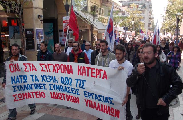 Δείτε αποσπάσματα από τις δύο απεργιακές συγκεντρώσεις στο Αγρίνιο