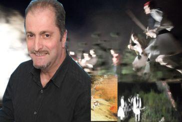 Ο εμπνευστής της Αναπαράστασης μάχης στα Παρακαμπύλια Π.Σπυρέλης με Τραπεζιώτη