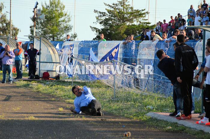 Eπεισοδιακό το ΑΕΜ- Καλαμάτα, χτύπησαν τον δήμαρχο Μεσολογγίου (φωτό-video)