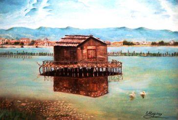 «Η παραδοσιακή πελάδα της Κλείσοβας», ελαιογραφία της Ελένης Μαμάση