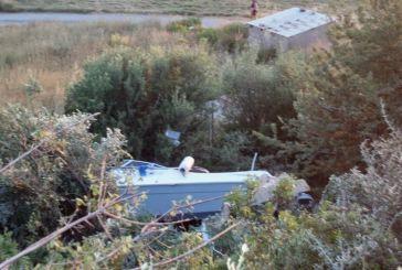 Εκτροπή οχήματος με οικογένεια μέσα στο δρόμο Αστακός-Μύτικα