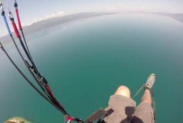 Εντυπωσιακή προσγείωση στα νερά της Τριχωνίδας (Video)