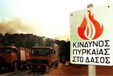 Υψηλός κίνδυνος πυρκαγιάς για σήμερα και αύριο