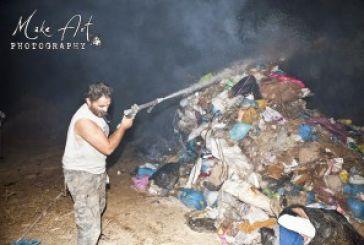 Eικόνες από τη φωτιά στον Αστακό