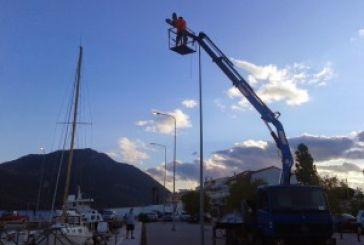 Επισκευάστηκαν τα φώτα στο λιμάνι του Μύτικα