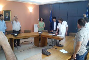 Τοπικοί σύμβουλοι ορκίστηκαν ενώπιον του νέου δημάρχου Αγρινίου