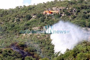 Πυρκαγιά σε δύσβατη περιοχή στο Τρίκορφο Ναυπακτίας