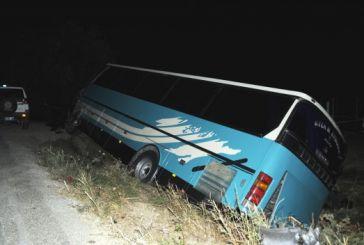 Σοβαρό τροχαίο με λεωφορείο στη Συκούλα
