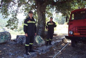Σε ετοιμότητα το πυροσβεστικό όχημα στην Παραβόλα