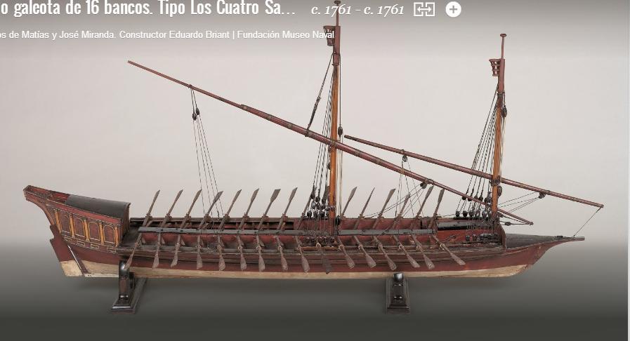 1761: Μοντέλο 16κουπης Γαλέρας