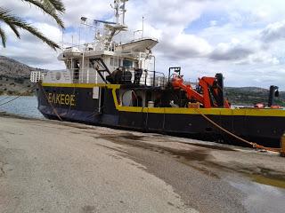 Το Ε/Α ΦΙΛΙΑ του Ελληνικού Κέντρου Θαλασσίων Ερευνών στο λιμάνι του Αστακού