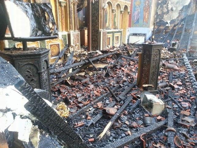 Τεράστιο το μέγεθος της καταστροφής στον Ιερό Ναό της Παλαιοπαναγιάς (φωτο)