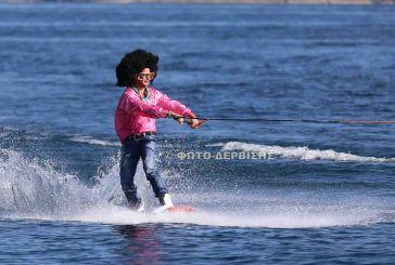 Εικόνες από τη 2η ημέρα Wakeboard στην Τριχωνίδα
