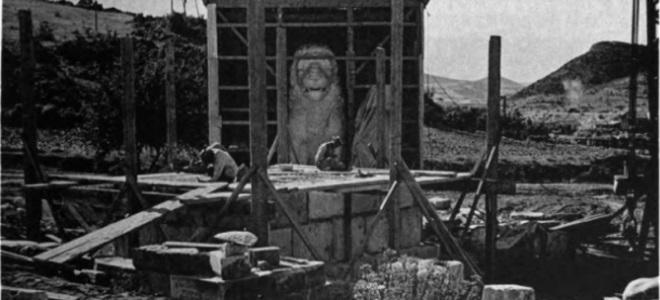 Φωτογραφικά ντοκουμέντα από το 1936: Οταν βρέθηκαν τα κομμάτια του Λιονταριού της Αμφίπολης