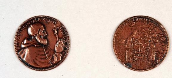 1571: Μετάλλια αφιερωμένα στον Πάπα Πιο V για τη Ναυμαχία της Ναυπάκτου.