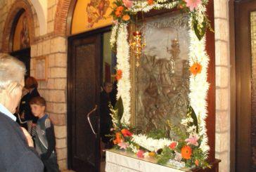 Εσπερινός και λιτανεία της Ιεράς Εικόνας του Άγιου Δημήτριου Παραβόλας (φωτό)