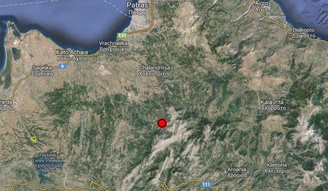 """Koυνήθηκε"" το Αγρίνιο από σεισμική δόνηση- 4,6 ρίχτερ με επίκεντρο νότια της Πάτρας"