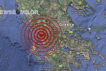 Αναστάτωση από μεγάλο σεισμό με επίκεντρο κοντά στην Αμφιλοχία