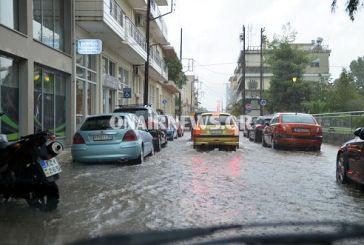 Πλημμύρισε πάλι το Μεσολόγγι (video)